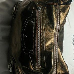 Helen Welsh Leather Shoulder bag Metallic Bronze